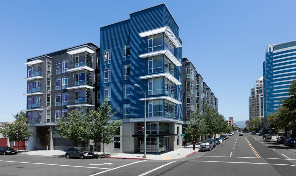 Street view of our apartments in Oakland