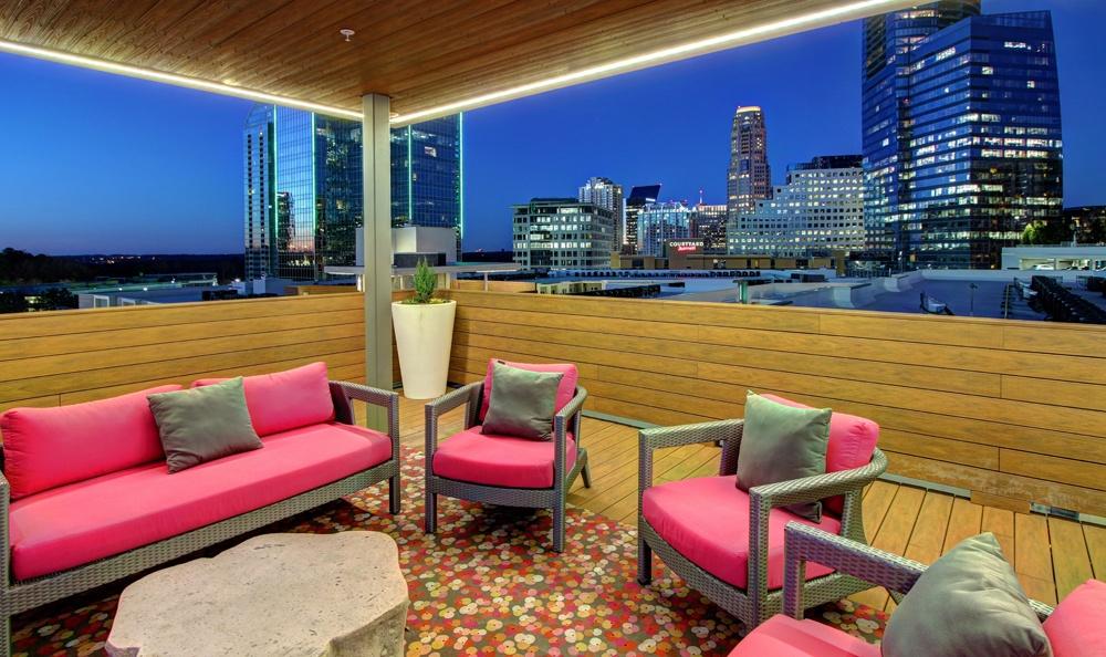 Rooftop lounge at Berkshire Terminus