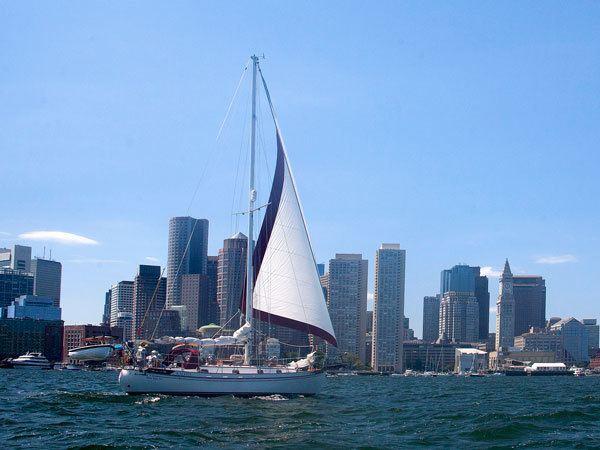 Ship on water in Boston