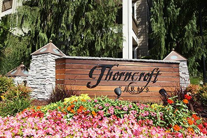 Landscaped sign at our Hillsboro apartments