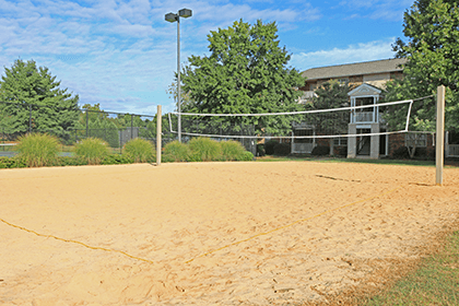 Greer apartments offering a volleyball pit