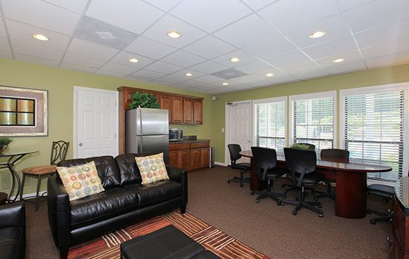 Spacious living room at the apartments in Smyrna GA