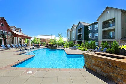 The swimming pool at our Littleton CO apartment