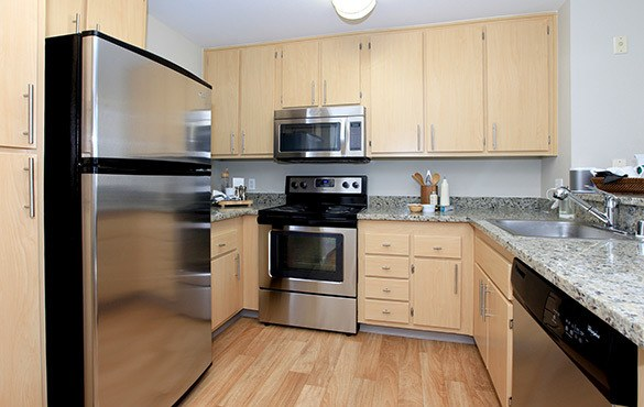 Kitchen interior at our Snowqualmie apartments