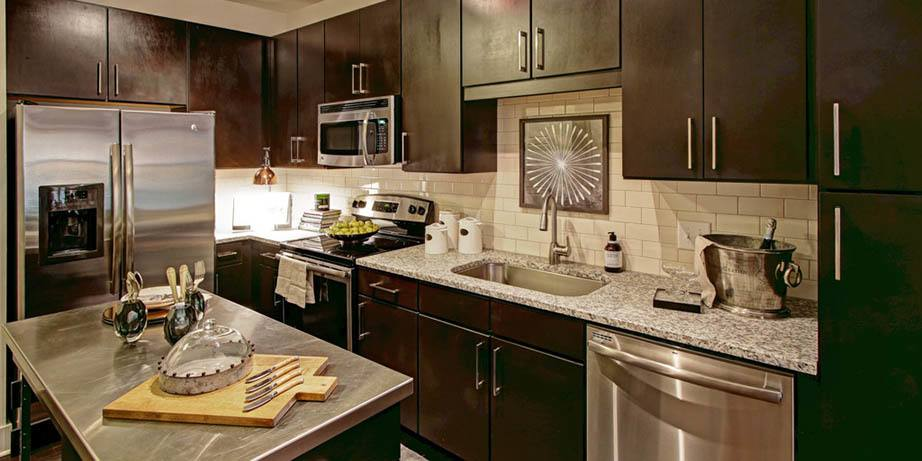 Enjoy the beautiful kitchen amenities at Howell Mill