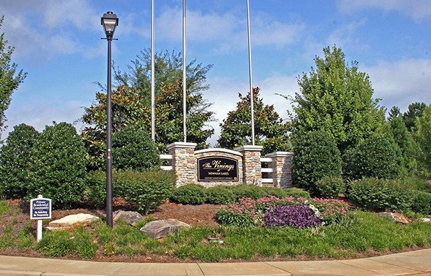 Our sign and its beautifully landscaped surroundings are an indicator of the wonderful things to come inside our community here at The Vinings at Newnan Lakes