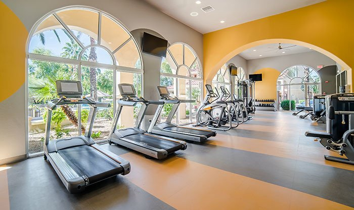 The fitness center at The Catherine Townhomes at Scottsdale