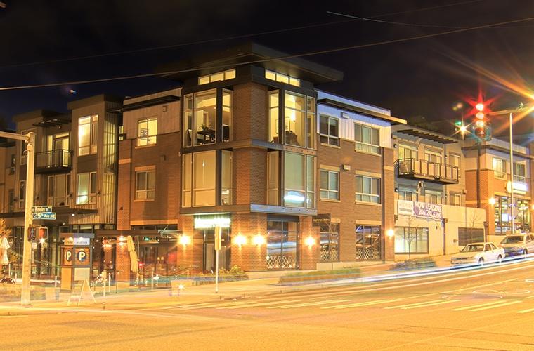 Nighttime at The Corydon in Seattle, WA