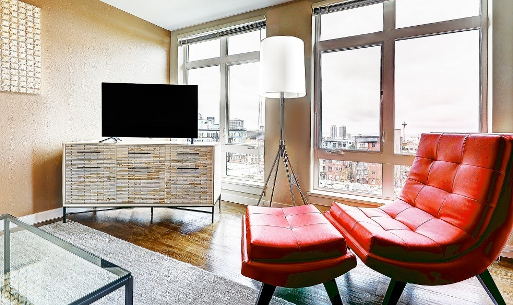 Modern apartment with view of the Space Needle The Lyric Capitol Hill Seattle WA