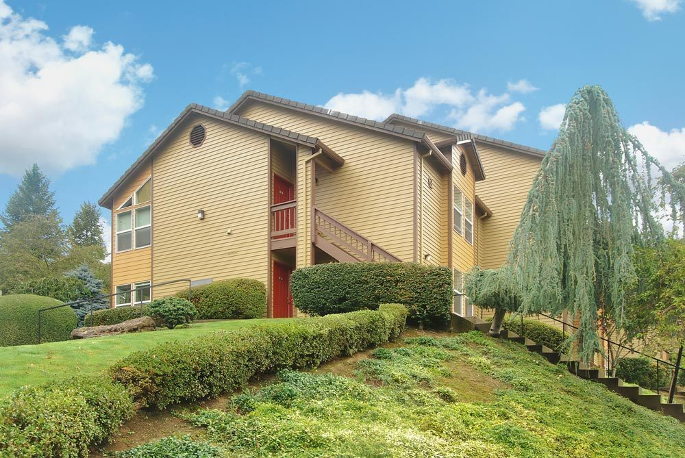 Exterior building at the Apartments for rent in Lake Oswego