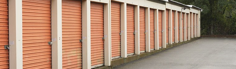 Exterior Units At The Self Storage Facility In Newport