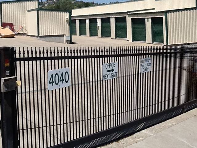... Electric Gate At The Self Storage Facility In Cameron Park ...