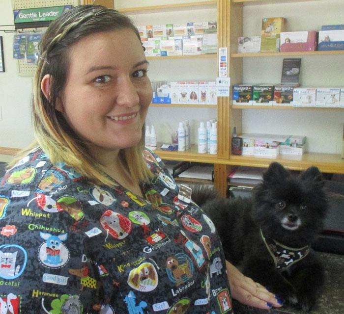 Samantha Spears at Cortez animal hospital