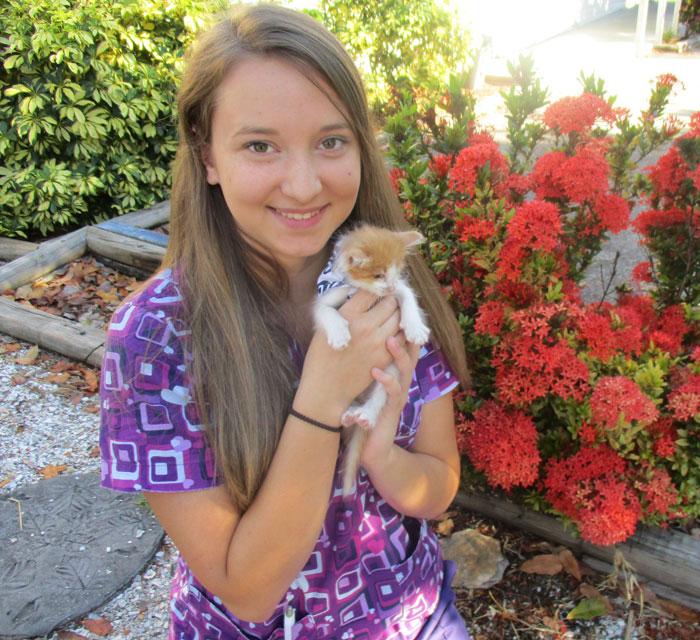 Savannah Kiwacz of Cortez animal hospital