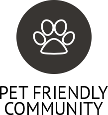 Learn about our pet policy on our website at The Vintage at South Meadows Condominium Rentals