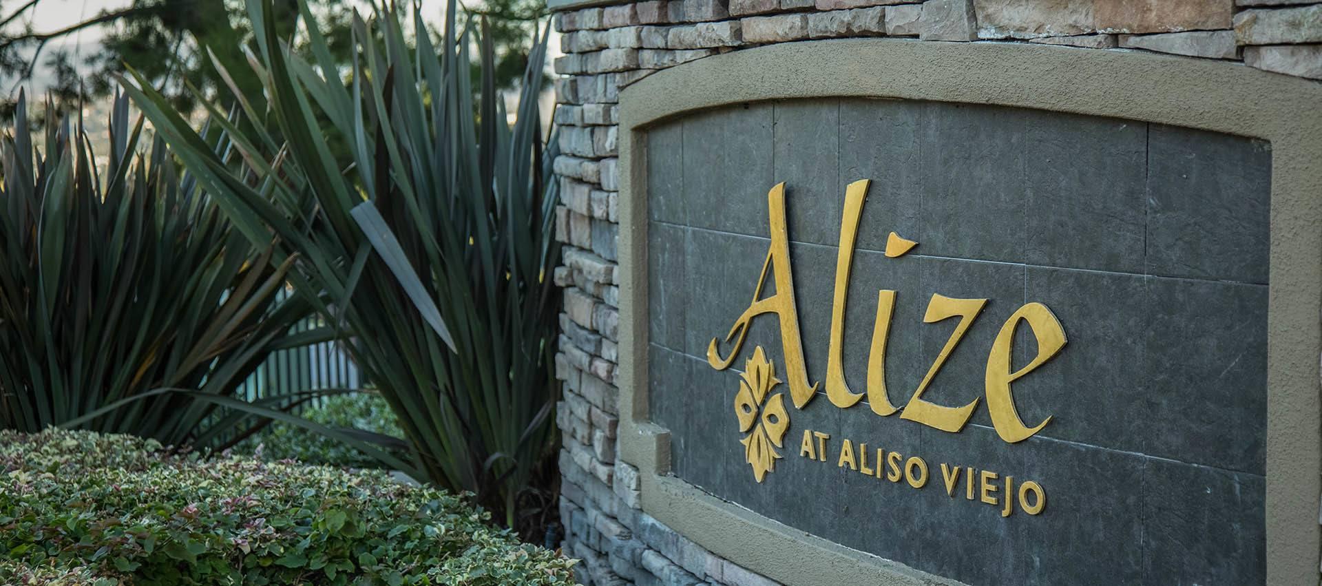 Alize At Aliso Viejo signage in Aliso Viejo, CA