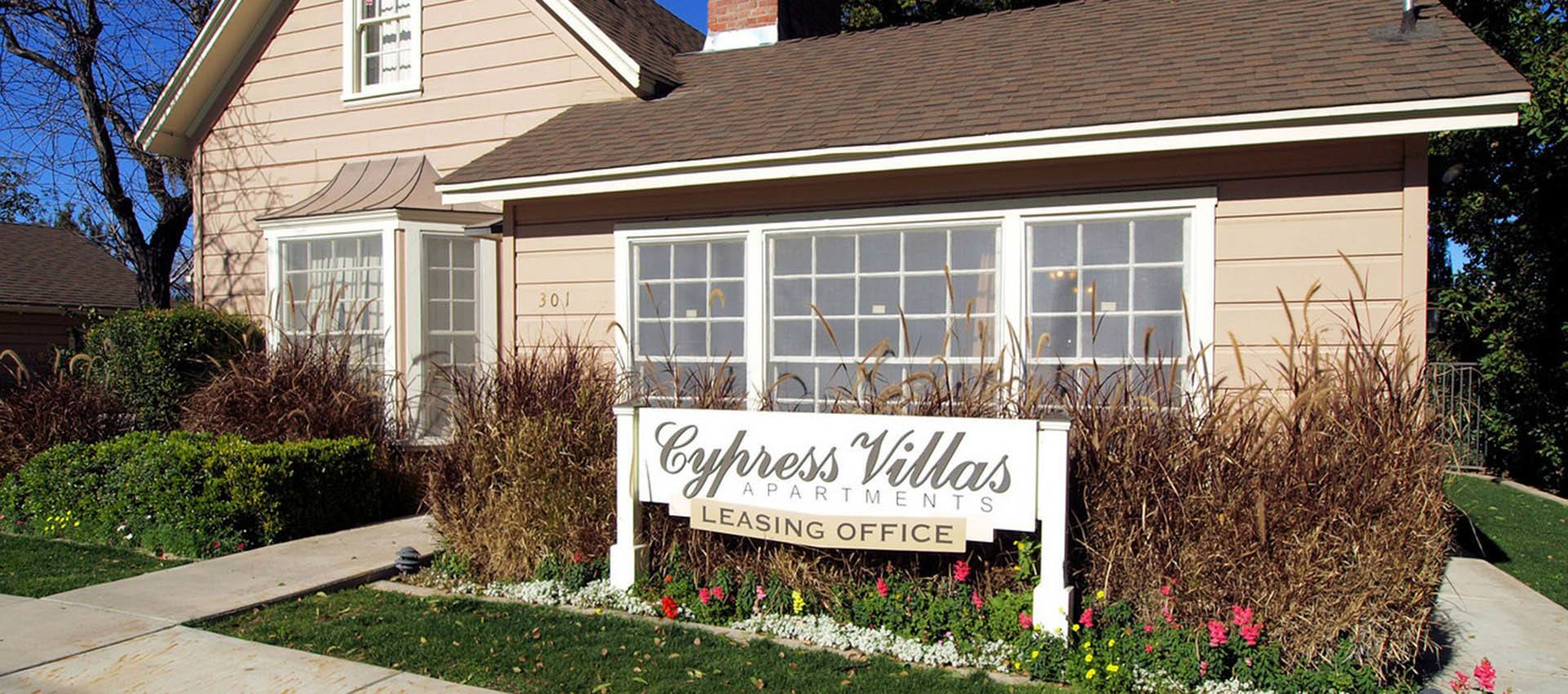 Leasing Office at Cypress Villas Apartment Homes in Redlands, CA