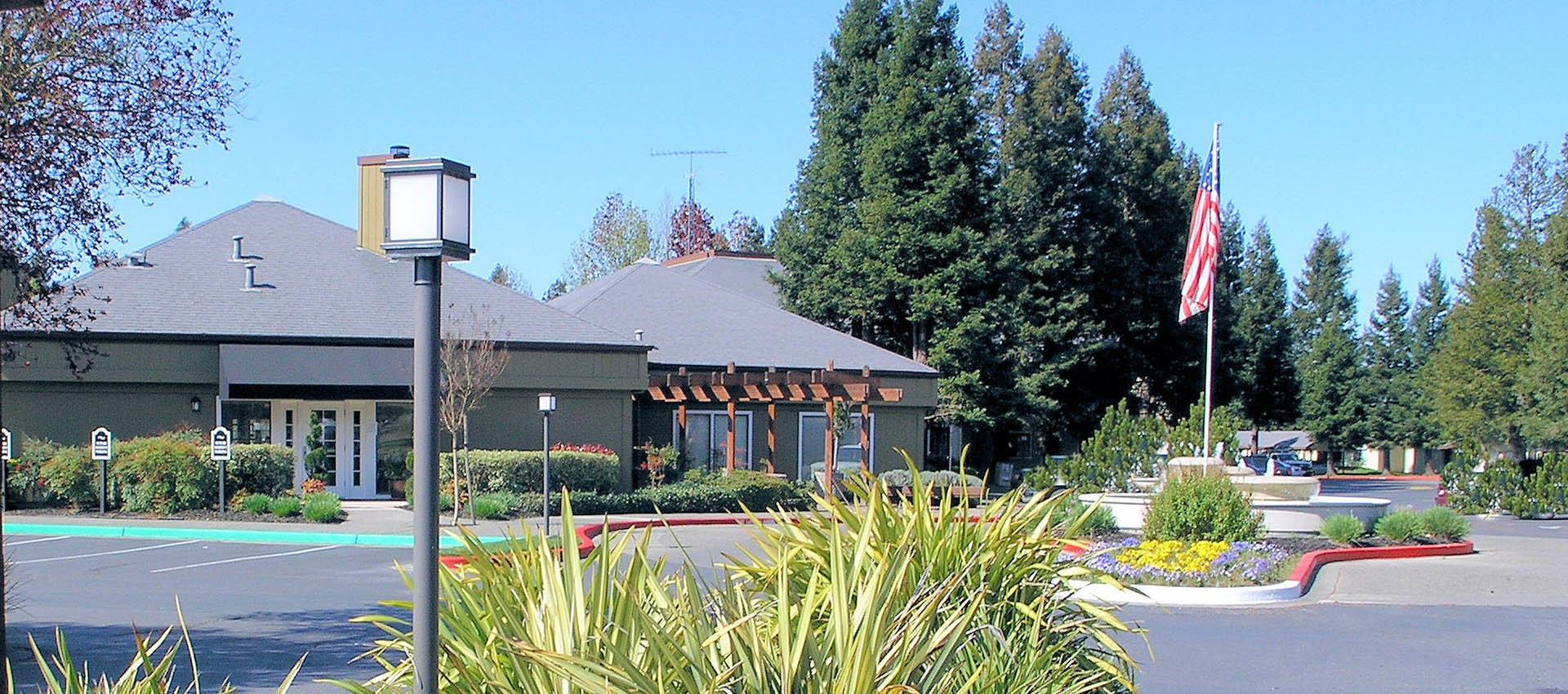 Leasing office at apartments in Rohnert Park, CA