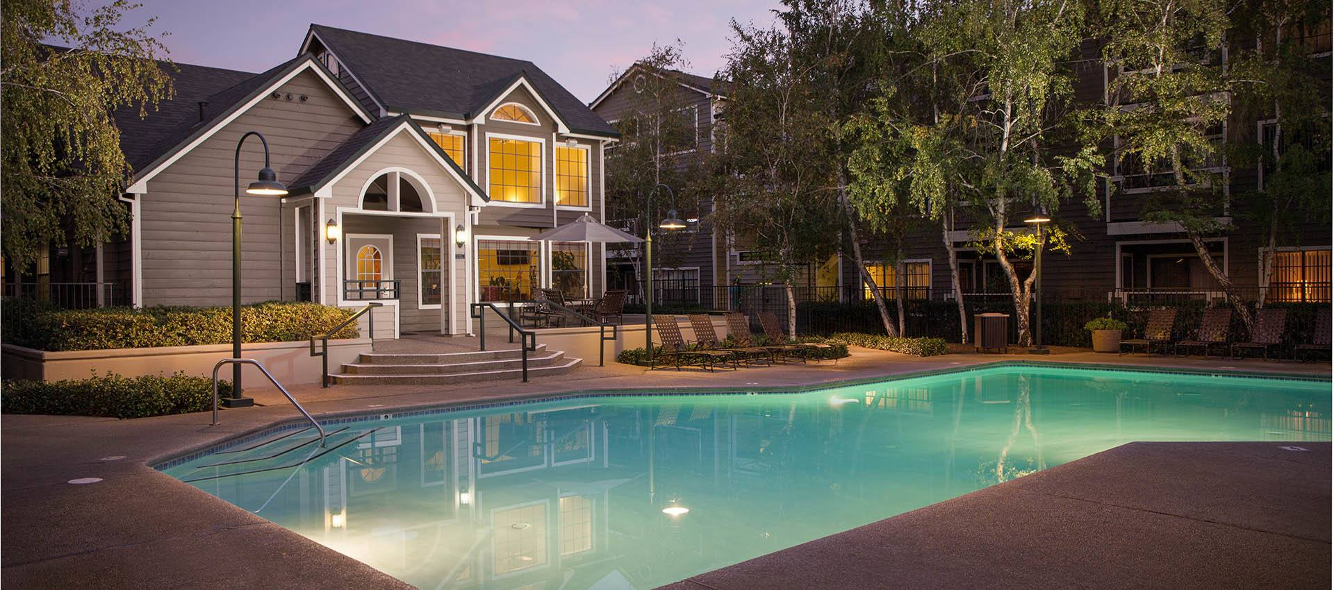 Expansive Pool Deck With Spa