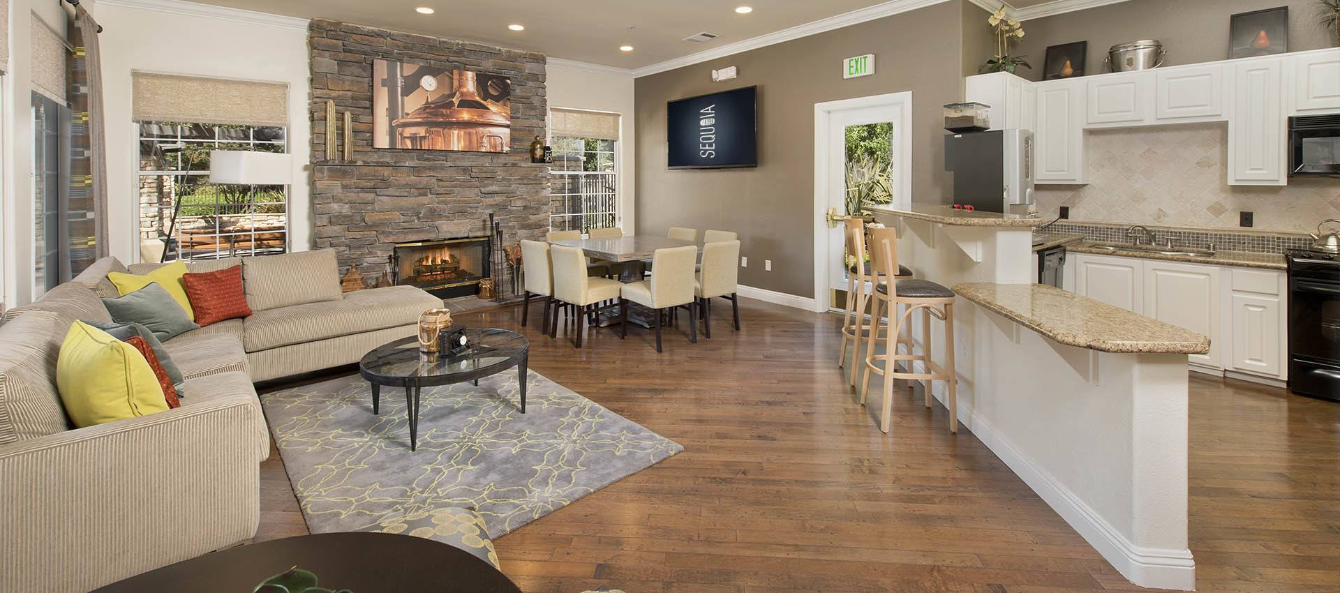 Resident's Clubhouse with Gathering Kitchen at River Oaks Apartment Homes in Vacaville