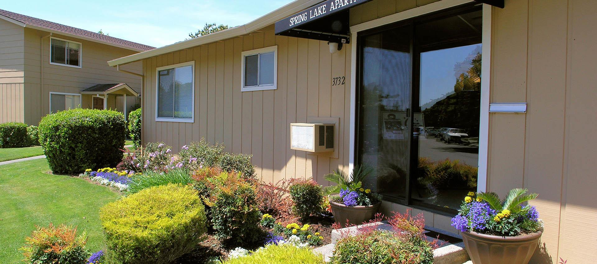 Leasing office at apartments in Santa Rosa, CA
