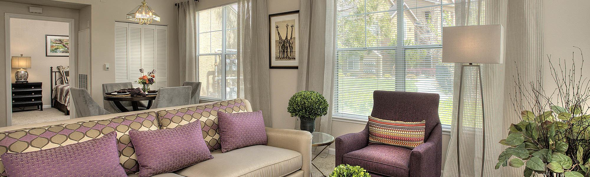 View our floor plans at The Vintage at South Meadows Condominium Rentals on our website