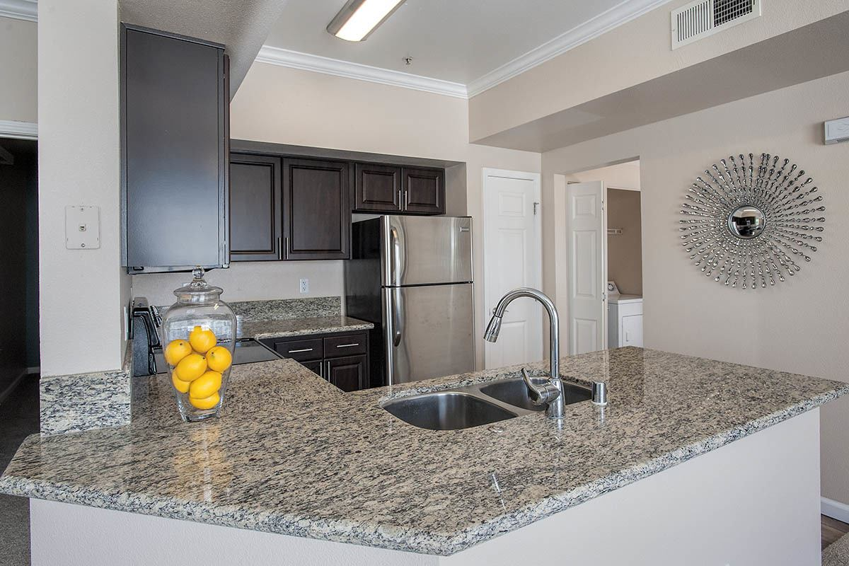 Luxury Kitchen at The Vintage at South Meadows Condominium Rentals in Reno