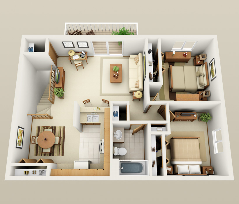 Affordable 1 2 bedroom apartments in st francis wi for 2 bedroom studio apartment plans