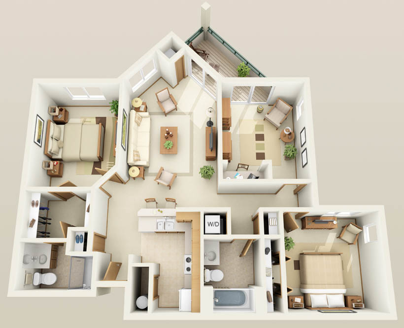 Apartment Floor Plans 3 Bedroom bedroom apartment house plans. bedroom apartment. bedroom