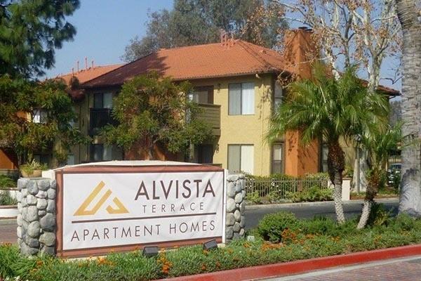 Monument sign at Alvista Terrace