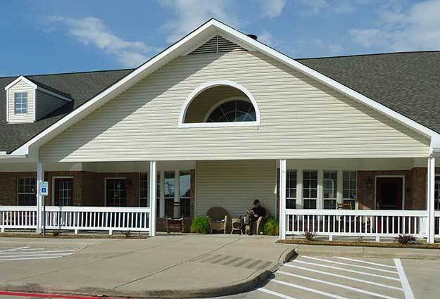 Front entry at Flower Mound Assisted Living