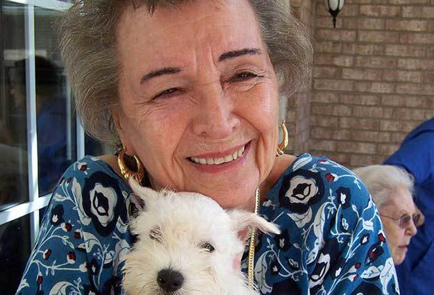 Pets accepts at Flower Mound Assisted Living