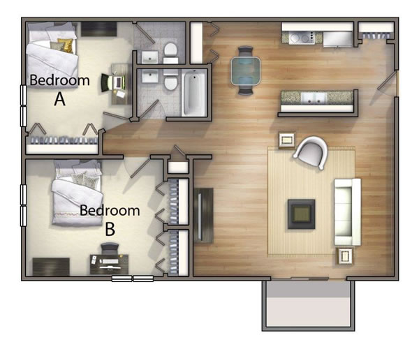 1, 2 & 3 Bedroom Off Campus Student Housing in Kent, OH
