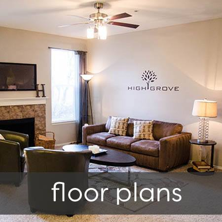 Floor plans at HighGrove Apartments