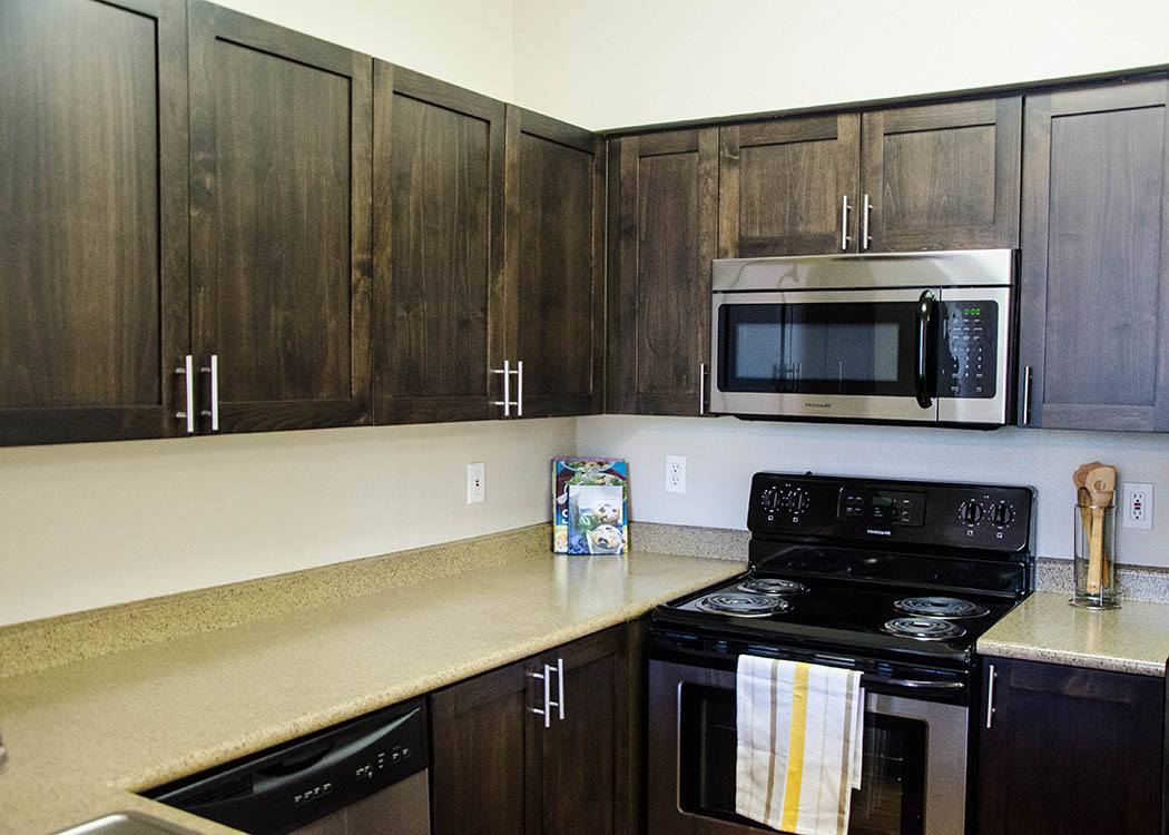 Kitchen at Wildreed Apartments